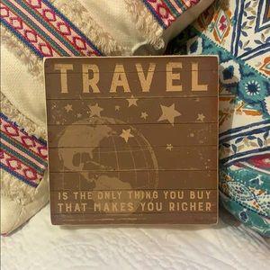 Wooden Travel Decor